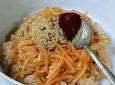 참깨 볶는 방법...그리고 무채 비빔밥^^