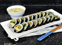 햅쌀로 만드는 연어 김밥! 더 맛있다!