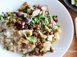 양배추 소고기덮밥 만드는법, 한그릇요리,양배추요리