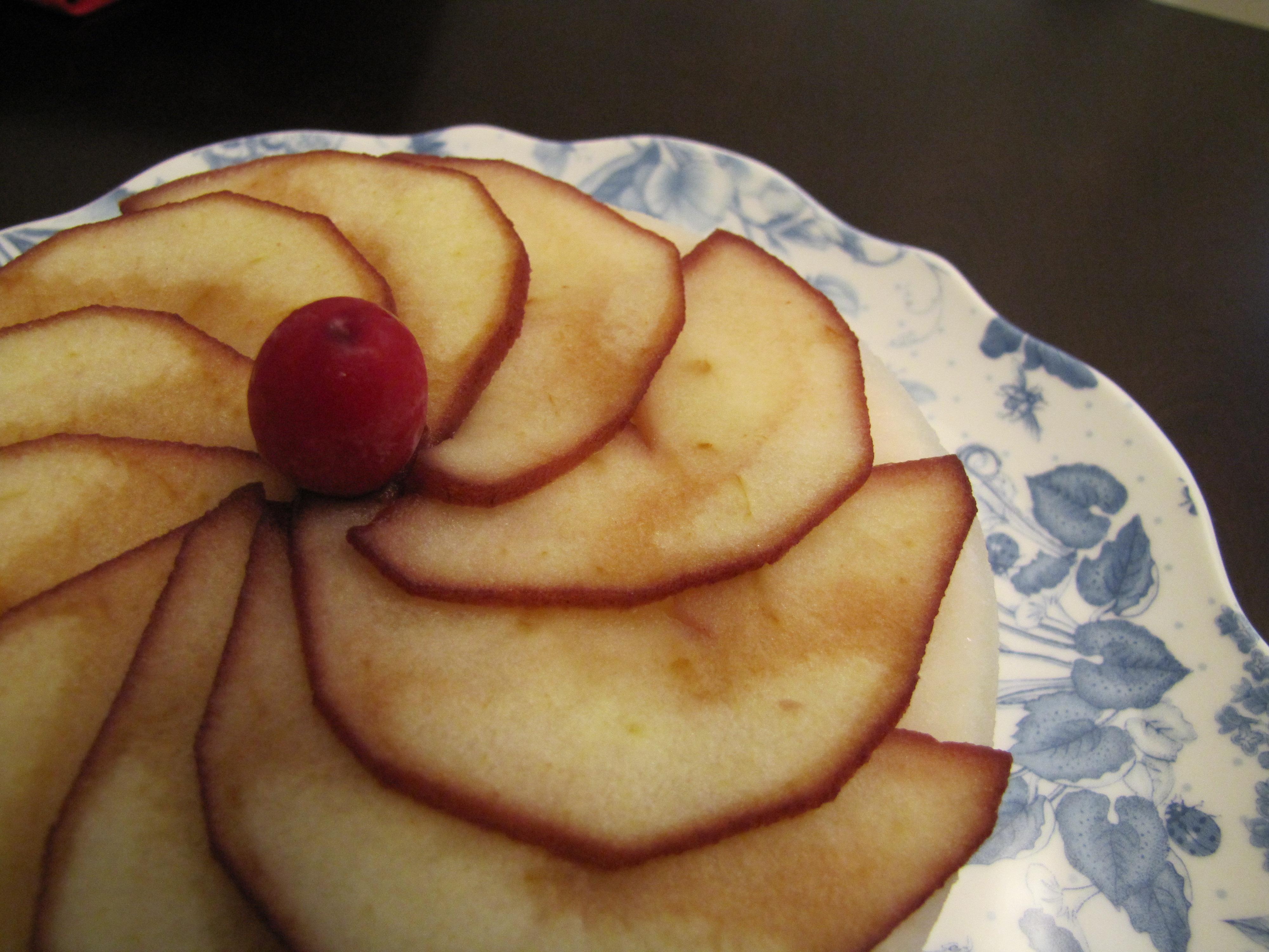 상큼한 사과 크렌베리 떡케익